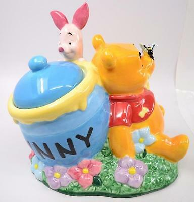 Disney Store Winnie The Pooh and Piglet Hunny Pot Cookie Jar - #R-02-002