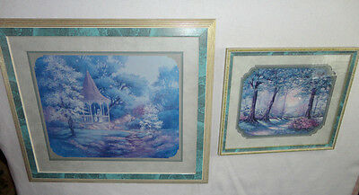 Home Interiors  ''Gazebo & Pathway in Park '' Pictures  Set of 2