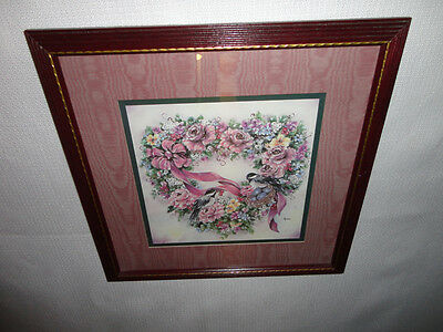Home Interiors ''Chickadees in Heart Floral Wreath '' Picture  Gorgeous
