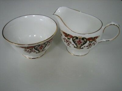 "Colclough ""Royale Pattern""  Sugar Bowl and Cream Jug"