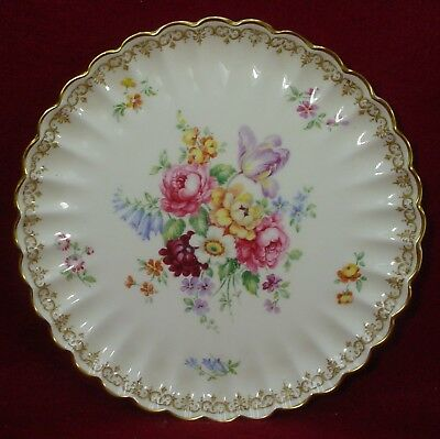 CROWN STAFFORDSHIRE china ENGLAND'S BOUQUET pattern COOKIE PLATE 8-5/8""