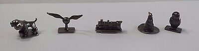 Set of 5 Pewter Tokens from Harry Potter Scene It Replacement Parts Collectible