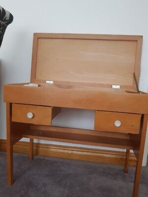 old school style lift up lid childrens small desk storage