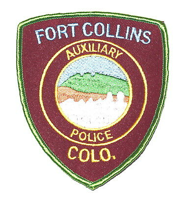FORT COLLINS COLORADO CO Police Sheriff Patch AUXILIARY MOUNTAINS VINTAGE MESH ~