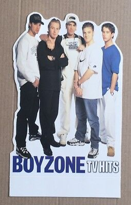 BOYZONE Small Original Vintage TV Hits Magazine Standee