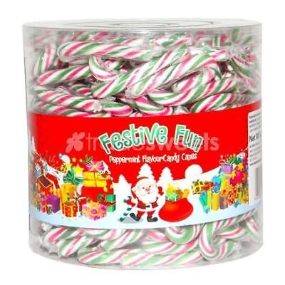 Mini Christmas Let It Snow Peppermint Candy Canes Buy 5 canes to tub of  250
