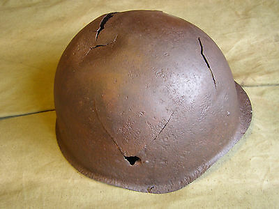 Original Ww2 Battlefield Relic.  Soviet Red Army Helmet Ssh-40 From Kurland