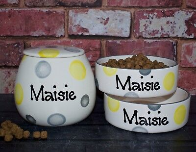 Dishes, Feeders & Fountains Pet Supplies Personalised Cat Bowl Ceramic Henry Hinch