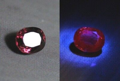 AAA Mahenge Red Spinel 1ct – Custom Portuguese Oval Cut Gem - Floursescent Red