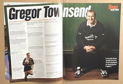 GREGOR TOWNSEND / BRITISH LIONS TOUR 1997 Total Sport Magazine Articles