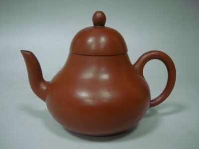"Elegant Rare Chinese ZiSha Pottery Purple Sand ""SiTing"" Teapot Marked"