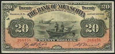 #550-28-22 $20 1929 Series The Bank Of Nova Scotia Vf++ Cv $2,000++ Wlm4426