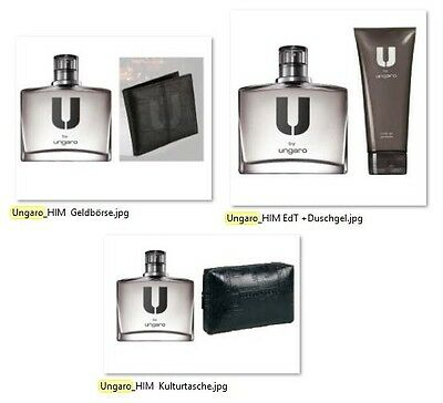 Avon U by Ungaro for Him Eau de Toilette Spray 75ml SET mit Duschgel od Börse...