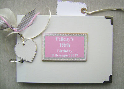 Personalised 18Th Birthday. Pink ..a5 Size.. Photo Album/scrapbook/memory Book.