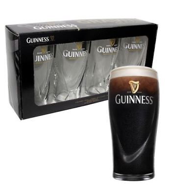GUINNESS GRAVITY PINT GLASS 20 Ounce Beer Glasses Pub Bar Drinks SET OF 4