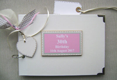 Personalised 30Th Birthday. Pink ..a5 Size.. Photo Album/scrapbook/memory Book.