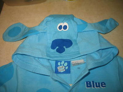 New  Blue's Clues One-Piece Hooded Coverall Halloween Costume Pajama    2T/3T