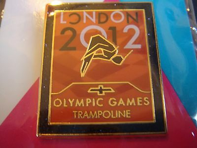 London 2012 Olympic Venue Collection Sport Pose Trampoline Pictogram Pin Rare Uk