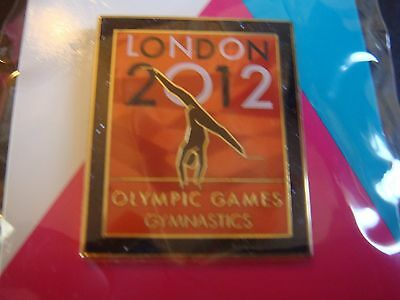 London 2012 Olympic Venue Collection Sport Pose Gymnastics Pictogram Pin Rare Uk