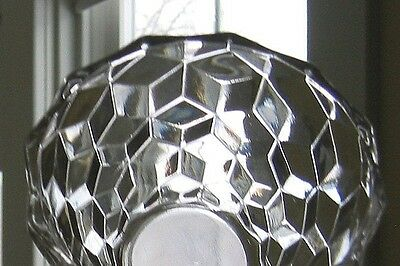 Clear Glass  PAIR SMALL BOWLS -  FGC  Jeanette  Cube / Cubist   4.5in x 2.5in