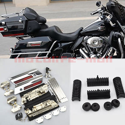 1993-2013 Latch Cover Lids Kit Fit for harley Saddlebags Hardware Touring Road