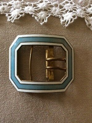 Vintage/Antique Metal & Enamel Buckle: Stunning & Rare