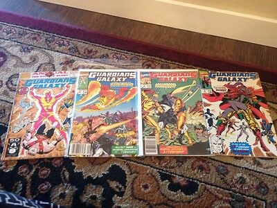 Guardians of the Galaxy(1990)all 1st printings 2, 3, 4 and Annual