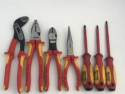 Knipex 7 Piece Tool Set - Witte Maxxpro Hand Tools 7pc - Free Shipping