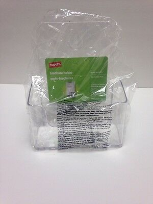 NEW Staples Pamphlet Size Literature Brochure Holder wall mountable