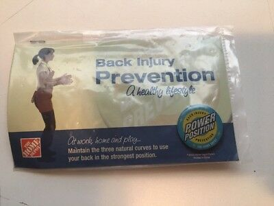 PINBACK Pin  HOME DEPOT Back Injury Prevention  POWER POSITIONS #1