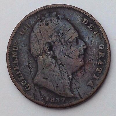 Dated : 1837 - One Farthing - Coin - King William IIII - Great Britain