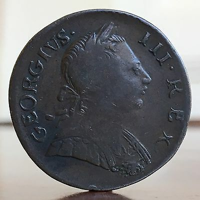 George III Evasion Colonial USA Halfpenny Or Token, 1772.