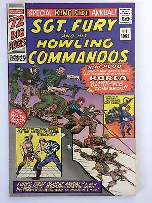 1965 Marvel Sgt Fury And His Howling Commandos Annual #1 Canadian Price Variant