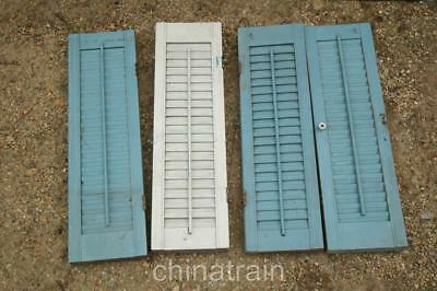 8 (4 Sets) Small Hinged Shutters Working Louvers Shabby Chic 26x7.5