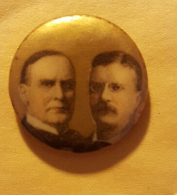 William McKinley Theodore Roosevelt Campaign Button from 1900