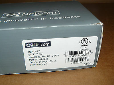 GN Netcom 2120 NC headset + Plantronics Vista M12 amplifier