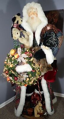 Amazing Life Size Santa Claus Created by J&T Designs and Imaginations  ca. 2000