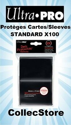 ☺MTG/POKEMON Lot de 100 Protèges Cartes/Sleeves Ultra Pro STANDARD : Noir
