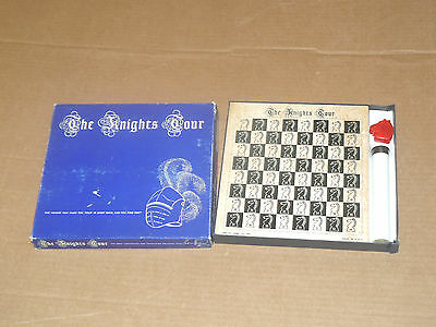 THE KNIGHT'S TOUR complete vintage solitaire chess puzzle - Are-Jay Game Company
