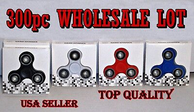 300pc Wholesale Lot Top Quality New Hand Fidget Spinners In Retail Packaging