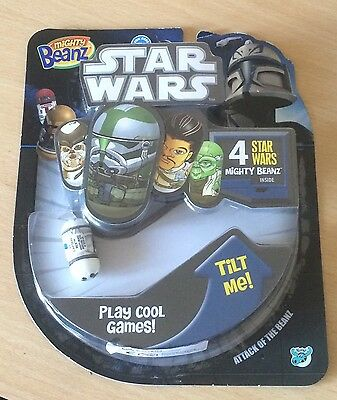 Star Wars Mighty Beanz 4 Pack Yoda Chewbacca + 2 More BNIP Rare Collectable 2011