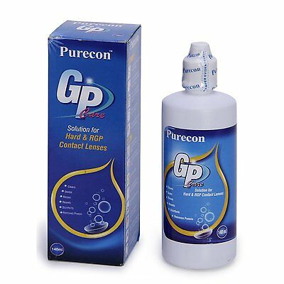 Purecon Gas Permeable Lenses Care Solution for Hard & RGP Contact Lenses (140 ml