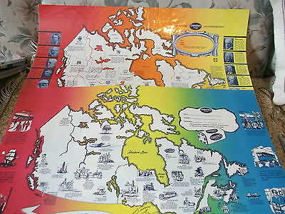 Vintage 1960s paper school book covers 1sts Across Canada & 13 PM`s    laminated
