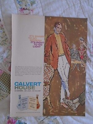 L33 1959 Calvert House Canadian Rye Whiskey Canada print ad advertisement