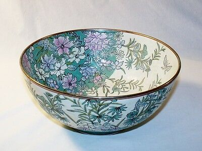 ANDREA BY SADEK Large Floral & Butterfly DECORATIVE BOWL