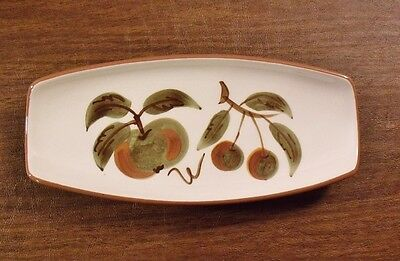 "Stangl ORCHARD SONG 10-3/8"" Pickle Dish MINT"