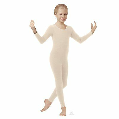 Body Wrappers MT117 Child Size Medium (8-10) Nude Full Body Long Sleeve Unitard