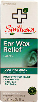 Ear Wax Relief Drops 10ml .33 oz Similasan, Removal Aid