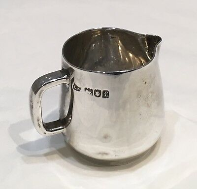 EXQUISITE SMALL ANTIQUE STERLING SILVER CREAM JUG, EDWARDIAN 1901, Reg No 377278
