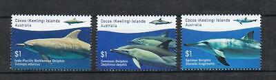 STAMPS  AUSTRALIA COCOS (KEELING) ISLAND 2016  3x $1.- DOLPHINS    MNH